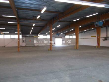 ROSE IMMOBILIEN KG: Lagerhalle mit sehr guter Verkehrsanbindung.