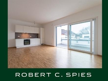 Modern Wohnen im LILIENPARK: Helle 2-Zimmer-Penthouse-Wohnung mit Dachterrasse