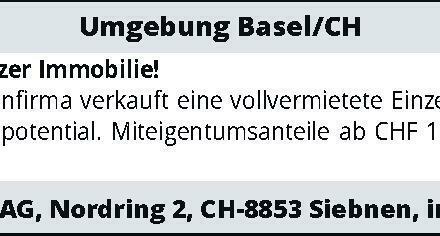 Umgebung Basel/CH