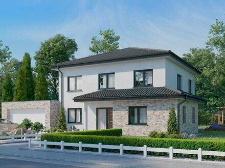 Stadtvilla mit Anbauten, Massivhaus für die Familie