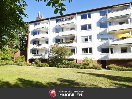 Schwachhausen / Kapitalanlage: Helle und gepflegte 3-Zimmer-Wohnung mit Südbalkon