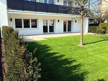 hochwertige und bezugsfertige 3-Zimmer-Mietwohnung mit Garten