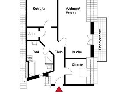 Schicke Dachgeschosswohnung - Neubau Erstbezug