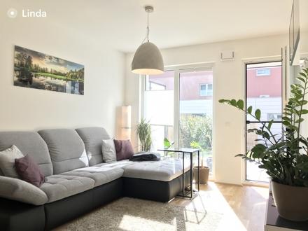 Provisionsfrei! Neuwertige, modern (teil-)möblierte 3-Zimmer Wohnung direkt an der Glan mit Garten