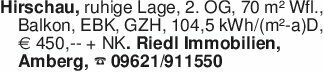 Hirschau, ruhige Lage, 2. OG,...