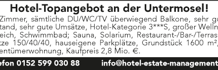 Hotel-Topangebot an der Untermosel