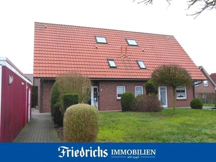Doppelhaushälfte mit Garage/Geräteraum und Garten in zentraler Lage in Edewecht