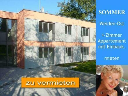 Weiden-Ost > modernes 1-Zimmer Appartement mit Einbauküche