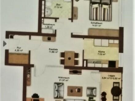 Ruhige zentrumsnahe 2 Zimmer Wohnung