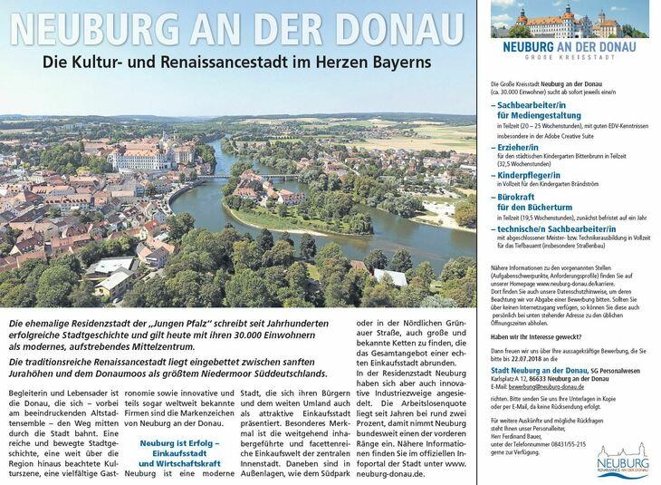 """Die ehemalige Residenzstadt der """"Jungen Pfalz"""" schreibt seit Jahrhunderten erfolgreiche Stadtgeschichte und gilt heute mit ihren 30.000 Einwohnern als modernes, aufstrebendes Mittelzentrum..."""