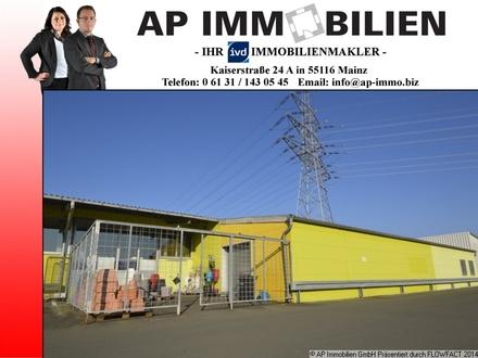Lagerhalle (ca. 185 m²) mit Außenfläche (ca. 30 m²) in Toplage in Mainz-Mombach!