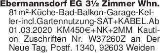 Ebermannsdorf EG 3½ Zimmer Whn...