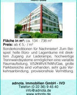 Köln-Süd: Helle Büro- und Lagerräume an Verkehrsgünstigem Standort!