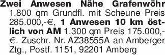 Zwei Anwesen Nähe Grafenwöhr 1...