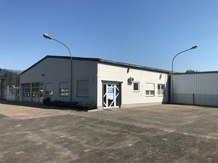 Büro mit Produktionshalle an sehr gut frequentierter Straße plus Freifläche