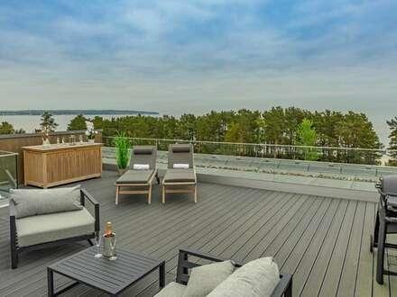 Luxuriöse Penthouse-Wohnung mit Dachterrasse und traumhaften Meerblick