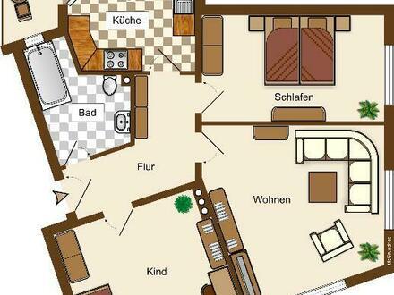3-Raum-Wohnung mit Balkon am Forstplatz