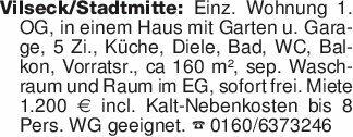 Vilseck/Stadtmitte: Einz. Wohn...