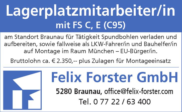 Lagerplatzmitarbeiter/in mit FS C, E (C95) am Standort Braunau für Tätigkeit Spundbohlen verladen und aufbereiten, sowie fallweise als LKW-Fahrer/in und Bauhelfer/in auf Montage im Raum München – EU-B