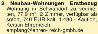 2 Neubau-Wohnungen Erstbezug W...