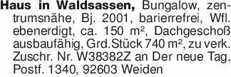 Haus in Waldsassen, Bungalow,...