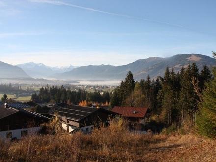 Saalfelden: Sonniger Baugrund in unverbaubarer Aussichtslage