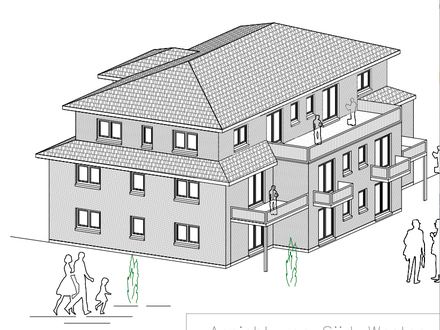 Kfw 55, Neubau barrierefreie Penthouse Wohnung in Bestlage mit Südterrasse