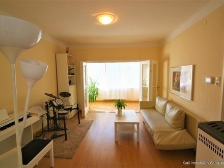 3 Zimmer Wohnung mit verglaster Loggia ruhig zum grünen Innenhof