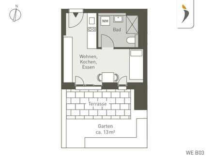 Diese Wohnung bietet mehr: Südterrasse, privater Gartenanteil und in 2 Minuten bei der Tram