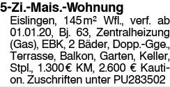 5-Zi.-Mais.-Wohnung in Eislingen