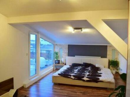 Schlafzimmer mit Dachterrasse