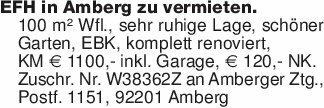 EFH in Amberg zu vermieten. 10...