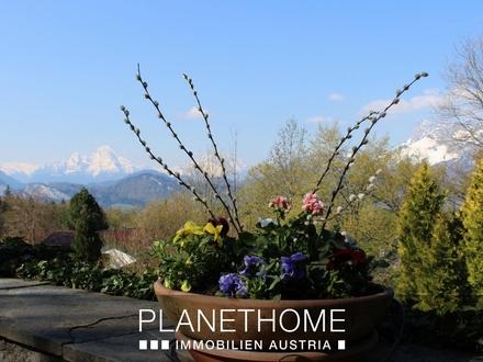 Alpenpanorama - Landhaus im Park mit Watzmannblick