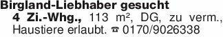 Birgland-Liebhaber gesucht4 Zi...