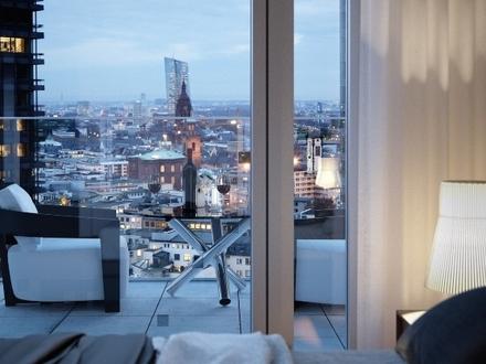 Wohnen in den Logenplätzen der Stadt: 3-Zimmer-Wohnung mit Skylineblick