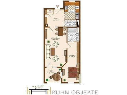 Schöne 2-Zimmer Wohnung mit Loggia + Tiefgarage