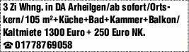 3-Zimmer Mietwohnung in Darmstadt Arheilgen (64291)