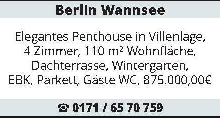 Berlin Wannsee Elegantes Penthouse