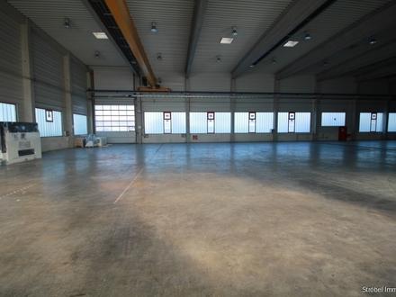 große Lagerhalle mit Freifläche in Wörnitz zum Mieten