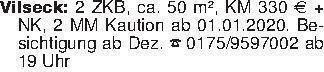 Vilseck: 2 ZKB, ca. 50 m², KM...
