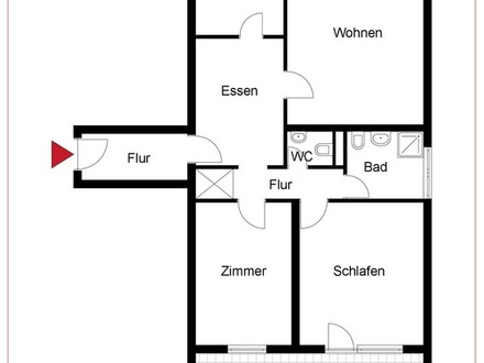 *** Großzügige 4 Zimmer-Wohnung mit 2 Balkone in Mannheim Neckarstadt-Ost/Wohlgelegen. ***