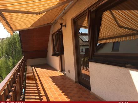 Sonnige 3 1/2 Zimmer-Dachgeschoss-Wohnung mit 2 Balkonen