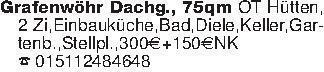 Grafenwöhr Dachg., 75qm OT Hüt...