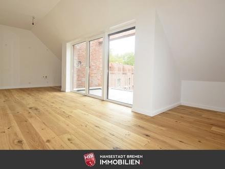 Worpswede / Schöne 3-Zimmer-Dachgeschosswohnung mit sonnigem Balkon