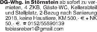 DG-Whg. in Störnstein ab sofor...