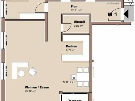 Grundriss Erdgeschoss Wohnung 1 / Haus 2