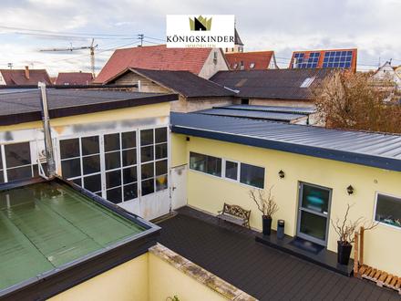 Werkstatt, Büro,Tattoo Studio u. weitere Gewerbeflächen mit schickem Einfamilienhaus u. Einliegerwohnung