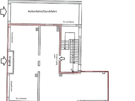 Büroeinheit mit großer Schaufensterfront im Wengenviertel Ulm (1 Gehminute zur 1-A-Lage)