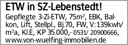 ETW in SZ-Lebenstedt!
