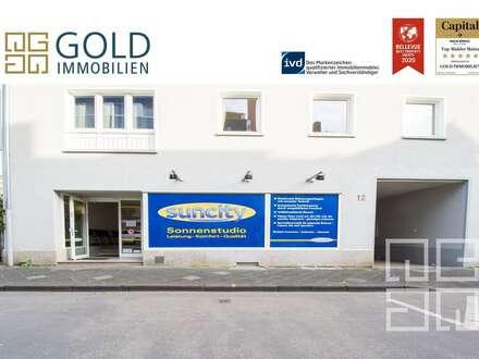 GOLD IMMOBILIEN:Gewerbeeinheit mit großartiger Rendite in der Hanauer Innenstadt (inkl. 3 Garagen)
